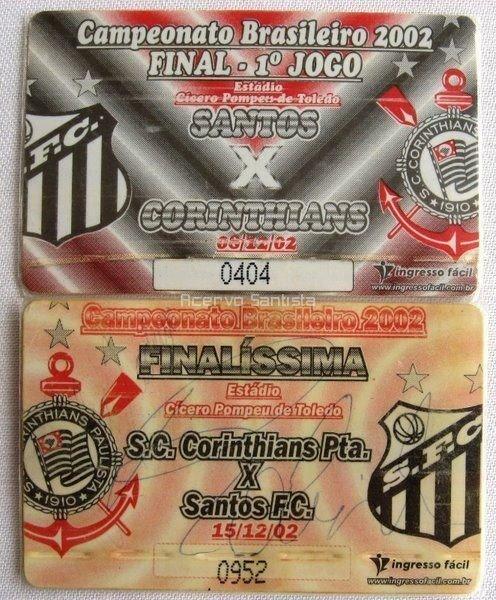 Ingressos da final contra o Corinthians (Campeonato Brasileiro 2002)