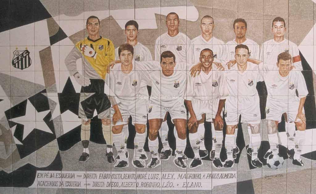 Pintura na Vila em homenagem a equipe de 2002