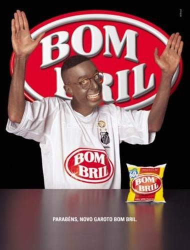 Propaganda do patrocinador do Peixe Bombril: o ator Carlos Moreno vira Robinho