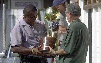 Dia seguinte da conquista, no CT Rei Pelé.