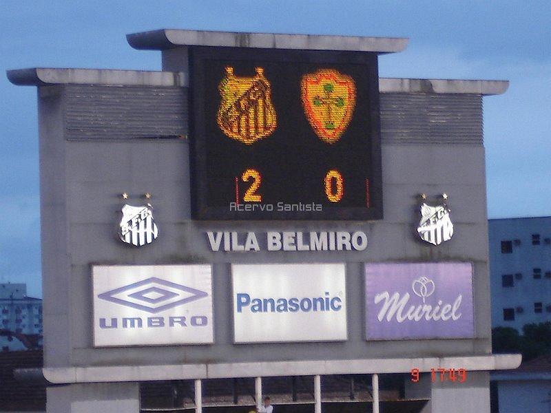 Placar Santos 2x0 Lusa - Paulistão 2006