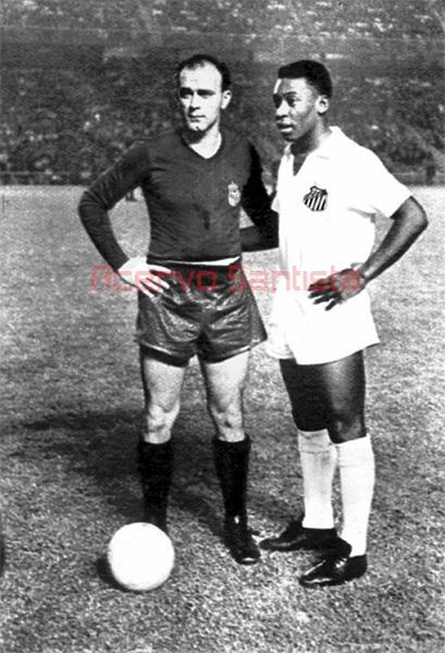 Em 1959, Di Stéfano (32) e Pelé (18)